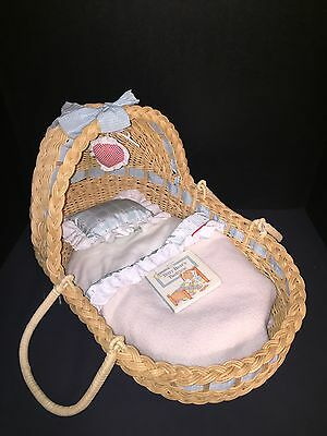 Pleasant Company Lullaby Basket Bitty Baby American Girl Doll Moses
