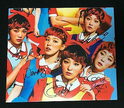"RED VELVET autographed ""The Red"" 1st Album signed PROMO CD"