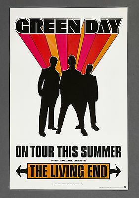 Green Day The Living End Show Promo ON TOUR Concert PROMO POSTER NEVER HUNG MINT