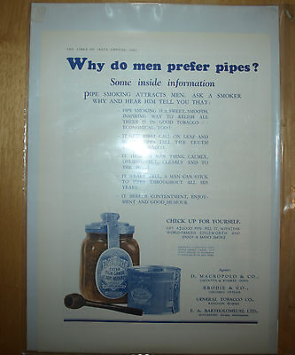Vintage 1931 Edgeworth Pipe Tobacco Printed Advertisement Add Commercial