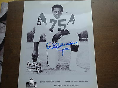 3 SIGNED 8x10 PHOTOS-RAMS FEARSOME FOURSOME-ROSEY GRIER, DEACON JONES & LUNDY