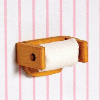Dolls House Miniature 1:12th Scale Toilet Roll & Holder