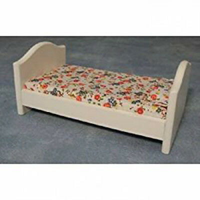 Dolls House Miniature 1:12th Scale White Childs Bed
