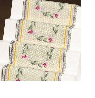 Dolls House Miniature 1:12th Scale Pink Rose Stair Carpet
