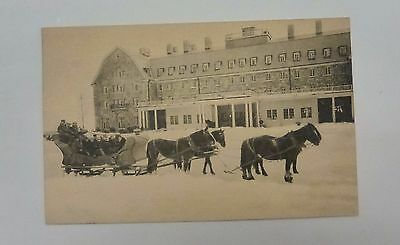 {BJStamps}  SKYTOP Lodge Monroe County PA Sleigh w/horses beautiful snow scene