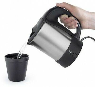 Lakeland Small Portable Electric Travel Kettle Jug with Beakers, Spoons and Bag