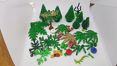 Lego Mixed Trees Plants Flowers Bundle Job Lot - City Town Park Decorations