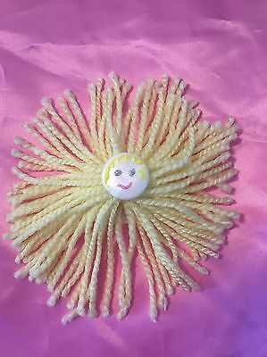 Happy Face Yarn Pin Yellow For Clothing Backpack  Pillow Hair Clip Custom Made