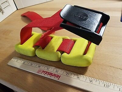 .SCUBA DIVE WEIGHTS COATED Yellow ~2LB x3 with Red Sport Divers Belt