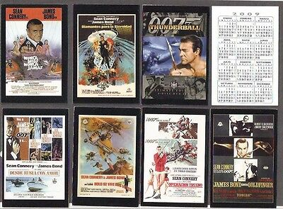 JAMES BOND 007 ,Sean Connery Films.Set of 8 pocket Calendars from Spain.2009.