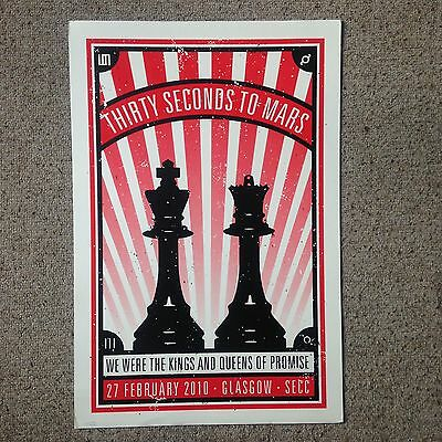 30 seconds to mars Poster Screen Print Rare 30stm Jared Leto Punk Emo Rock
