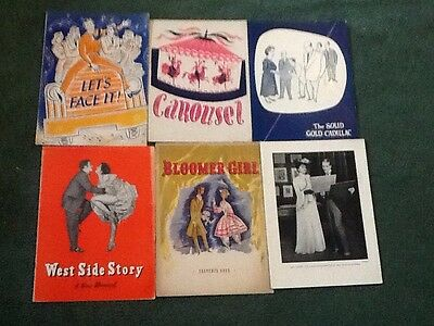 Broadway Programs(5) Solid Gold Cadillac/Let's Face It/West Side Story...