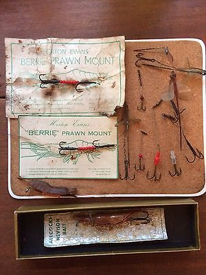 Vintage Salmon Fishing Lures/Tackle Bundle,Allcocks Lure.Horton Evans Mounts,