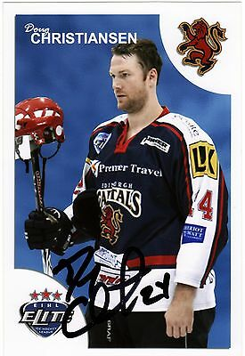 Doug Christiansen, Edinburgh Capitals/belfast Giants, Rare Auto'd/signed Photo.