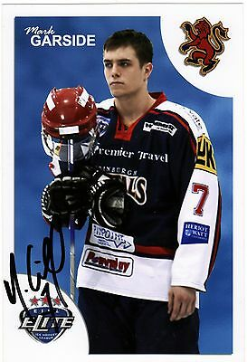 Mark Garside, Edinburgh Capitals/belfast Giants, Rare Auto'd/signed Photo.