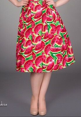 Victory Parade Vintage Pinup Watermelon Skirt Uk10/12 50s
