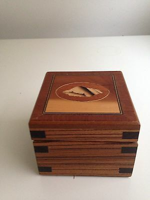 Inlaid Marquetry Box -hand Crafted .