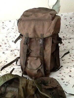 British Army Plce Bergan Backpack Olive ,with Side Pouches And Day Harness.