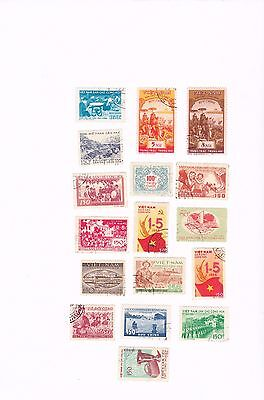 North Vietnam  1958-59 17 stamps,