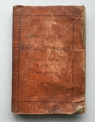 James Lillywhite's Cricketers' Annual 1878 Photos Fixtures Cricket Book