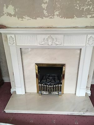 Cannon Caress Gas Fire And Surround And Marble