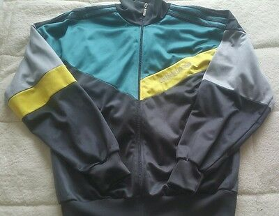 VINTAGE ADIDAS MENS TRACKSUIT JACKET TOP SIZE: L GB 42/44 RETRO 90's Shiny