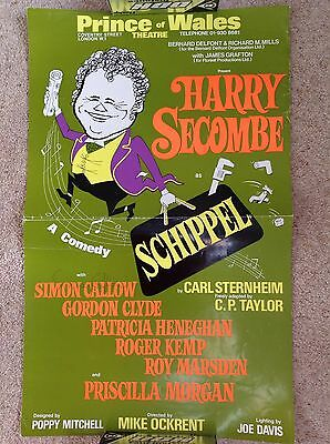 Harry Secombe Schippel Theatre Poster Signed Simon Callow Prince Of Wales 1975