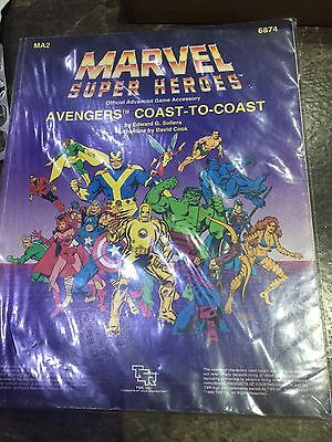 Marvel Super Heroes MA2 Avengers Coast To Coast Role Playing Game Book 6874