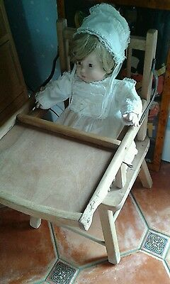 EFFENBEE BABY DOLL in Vintage Dress & Bonnet  - Perfect Condition.