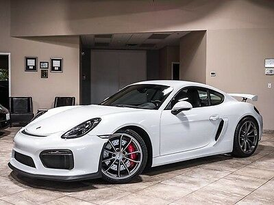 2016 Porsche Cayman GT4 Coupe 2-Door 2016 Porsche Cayman GT4 White/Black Only 2K Miles Sport Chrono Fully Loaded WOW