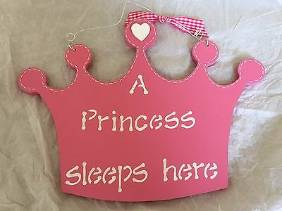 Handmade nursery door decoration for a baby girl