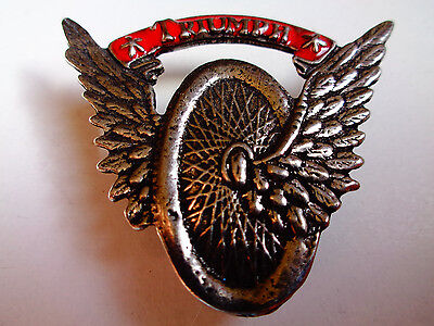 Triumph Winged Wheel Motorcycle Pin Classic Factory US Dealership Vintage Badge