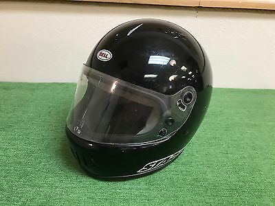 RARE Vintage BELL STAR LTD Motorcycle HELMET Full Face BLACK Clean Original USED