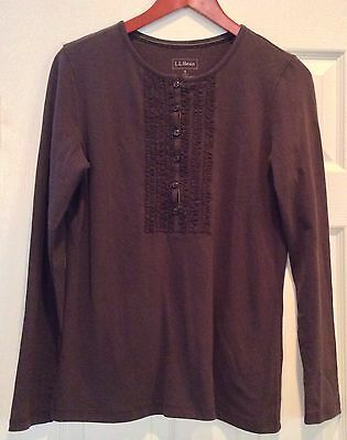 NWT! L.L. Bean Women's Long Sleeve Henley Size Small Excellent Offer!