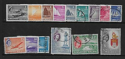 Singapore Sc# 28-43 Mh/used Stamps