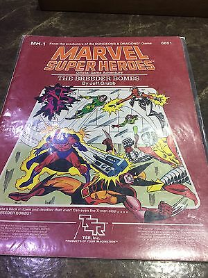 Marvel Super Heroes MH-1 The Breeder Bombs Role Playing Game Book 6851