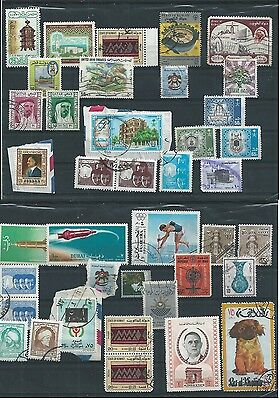 Middle East Mixed Lot 39 Stamps Mostly Used, Uae Saudi Qatar Kuwait Iraq