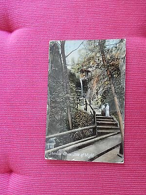 1918 fr Frith Postcard - Shanklin Chine - Isle of Wight IOW