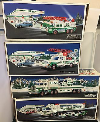 Hess Truck Lot 1994 1995 1996 1997 New in Box Car Carrier Helicopter