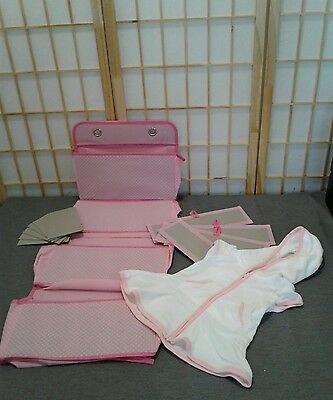 Delta Girls 4 Pocket Nursery Organizer (Pink) & BabyGirls' White Swim Cover up