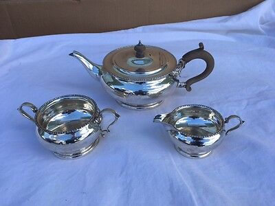 1922 William Neal Birmingham Sterling Silver Tea Service 696 Grams