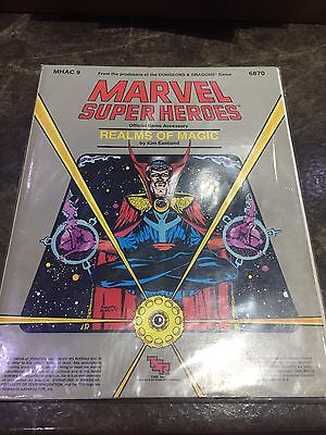Marvel Super Heroes TSR MHAC 9 Realms Of Magic Role Playing Game Book 6870
