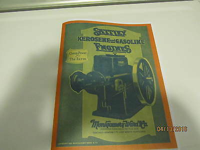 Sattley Hit and Miss Gas Engine Catalog Montgomery Ward Reprint