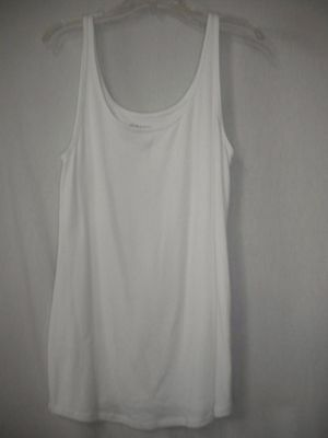 Old Navy Maternity Size Large Stretch White Sleeveless Tunic Tank Top