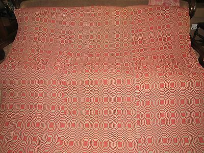 Antique 1800's Coverlet-- Hand Loomed 3 Panel Coverlet-Beautiful Red