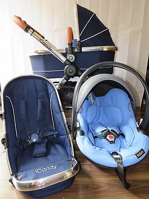 iCandy Peach 2016 Royal Travel System Pram Pushchair Carrycot Car Seat