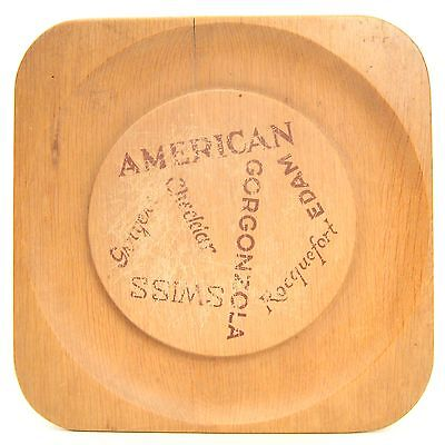 Russel Wright Mary Wright Wood Square Cheese Plate Service Tray-Oceana MCM AS IS