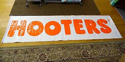 "Vintage 9 ft. 117"" Indoor Outdoor Hooters Vinyl Restaurant Advertising Banner"