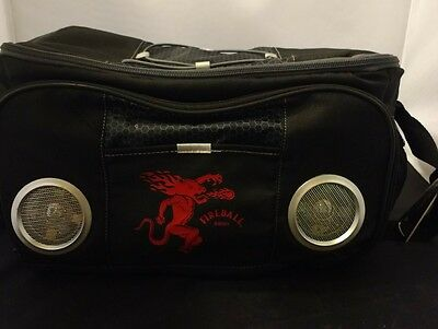 Fireball whiskey cooler with SPEAKERS and built in bottle opener