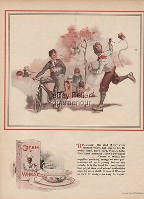 1926 Cream of Wheat Every Mother Wants Boy Kite Flying Art Rastus Ad